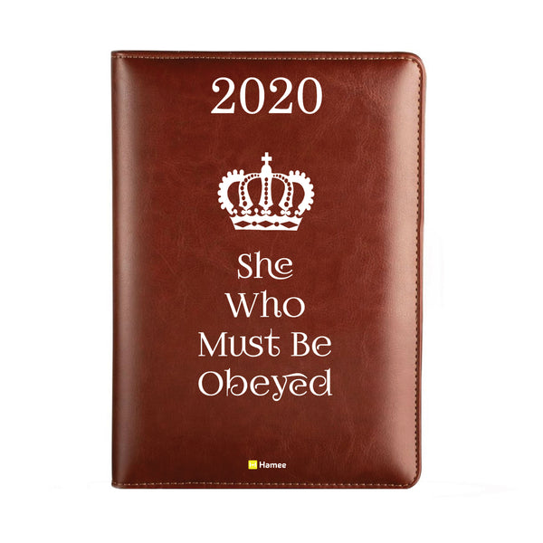 2020 Dark Brown Leather Diary - Obeyed