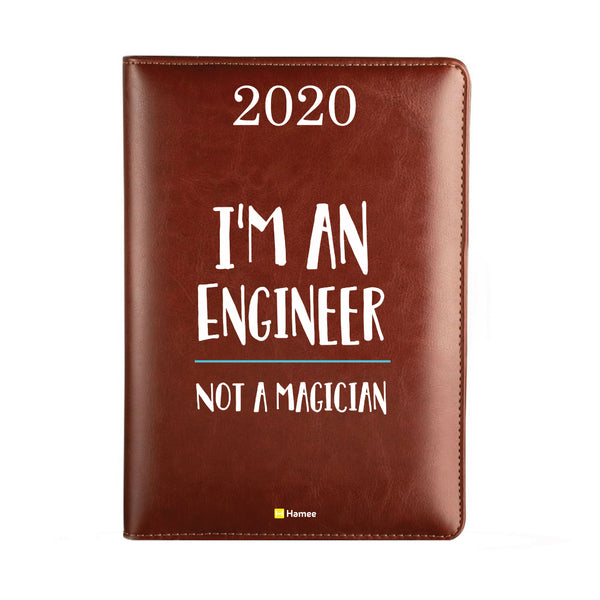 2020 Dark Brown Leather Diary - Magician