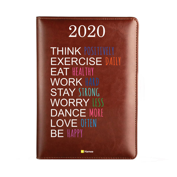 2020 Dark Brown Leather Diary - Think