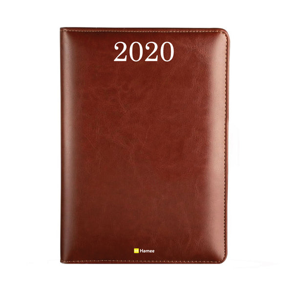 2020 Dark Brown Leather Diary - Plain