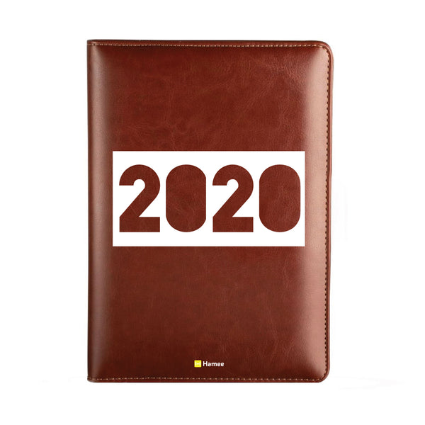 2020 Dark Brown Leather Diary - 2020