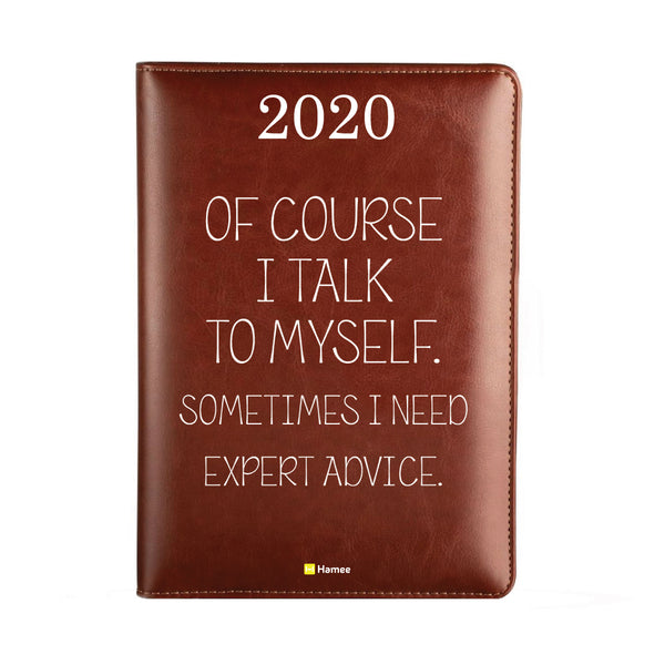 2020 Dark Brown Leather Diary - Expert