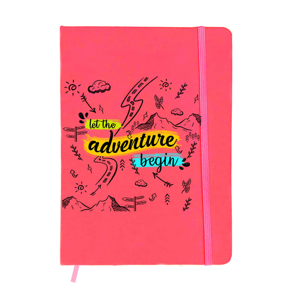 Adventure Doodles Pink A6 Pocket Diary-Hamee India