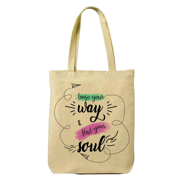 Find Soul Canvas Shopping Tote Bag-Hamee India
