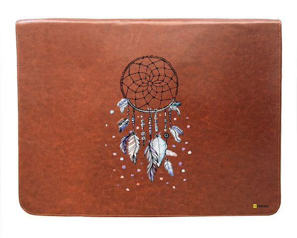 Dreamcatcher - Tan Brown Leather Document Holder-Hamee India
