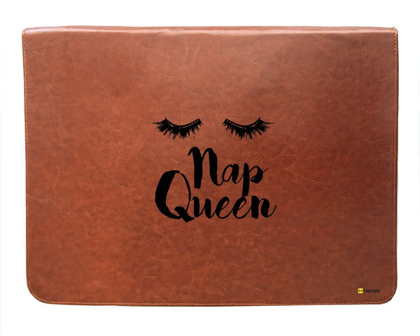 Nap Queen - Tan Brown Leather Document Holder-Hamee India