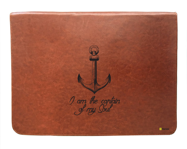 Anchor - Tan Brown Leather 15 inch Laptop Sleeve-Hamee India