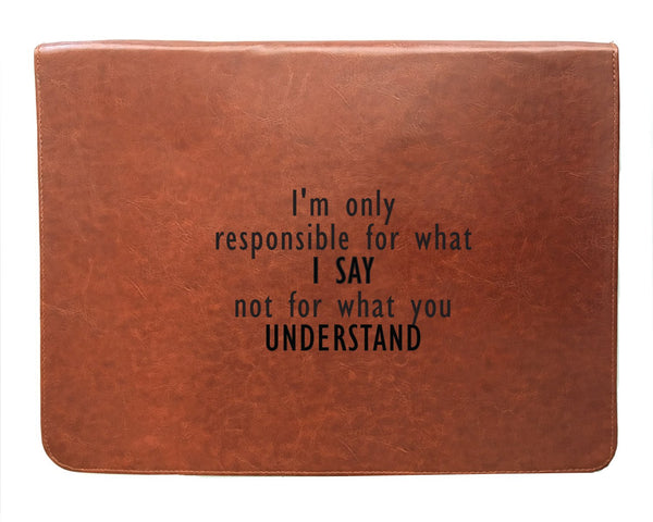 What I Say - Tan Brown Leather Document Holder-Hamee India