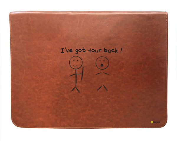 Your Back - Tan Brown Leather Document Holder-Hamee India