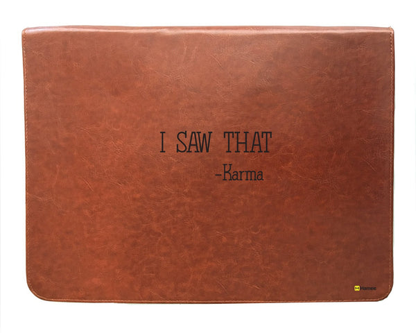 Karma - Tan Brown Leather Document Holder-Hamee India