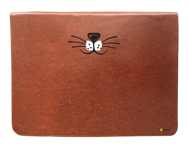 Whiskers - Tan Brown Leather Document Holder-Hamee India