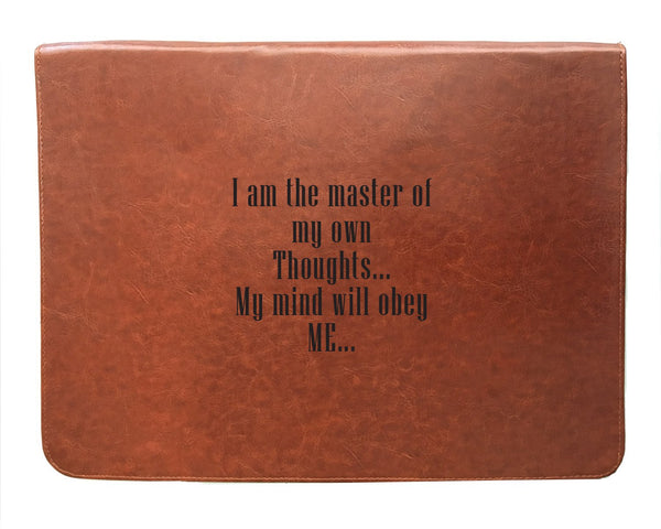 Thoughts - Tan Brown Leather Document Holder-Hamee India