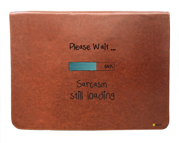 Sarcasm - Tan Brown Leather Document Holder-Hamee India