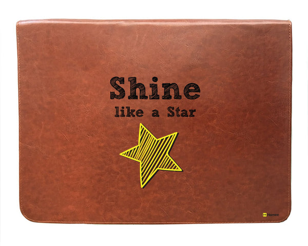 Shine - Tan Brown Leather Document Holder-Hamee India