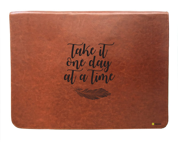 One Day - Tan Brown Leather Document Holder-Hamee India