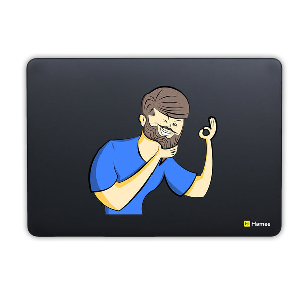 Fine Beard MacBook Air 13 Retina (2018) Cover-Hamee India