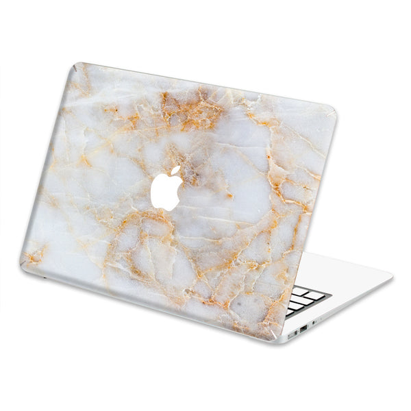 "Hamee Marble Pattern Decal Skin for MacBook Air 13"" (White Shade)-Hamee India"