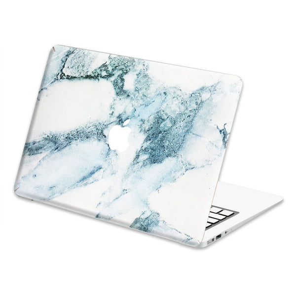 "Hamee Marble Pattern Decal Skin for MacBook Air 13"" (White/Blue Shade)-Hamee India"