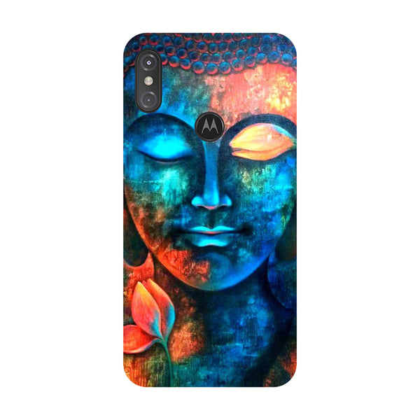 Serene Buddha Motorola One Power Back Cover-Hamee India