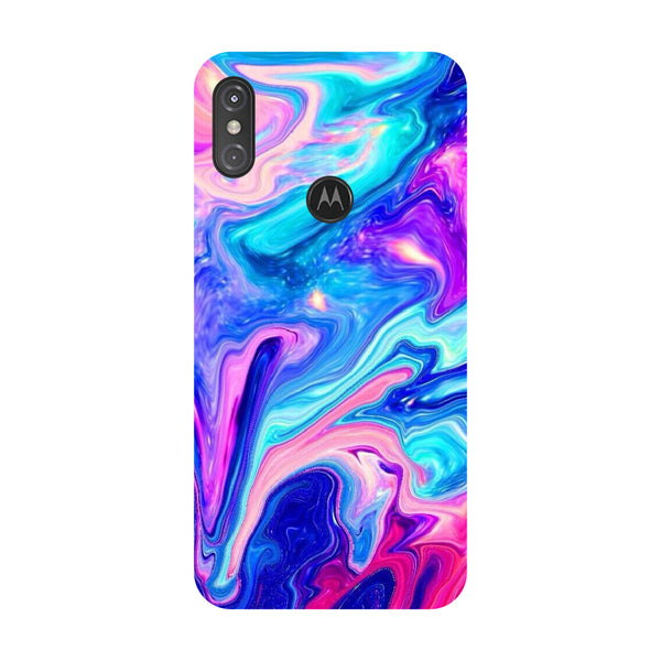 Abstract Marble Motorola One Power Back Cover-Hamee India