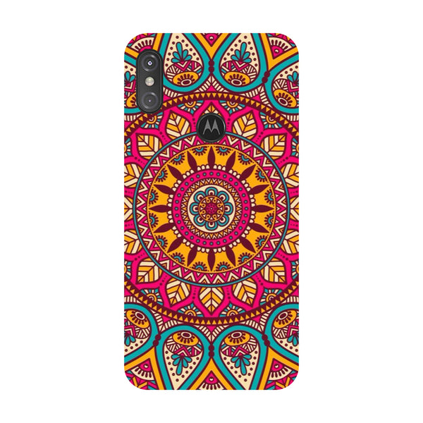 Pink Mandala Motorola One Power Back Cover-Hamee India
