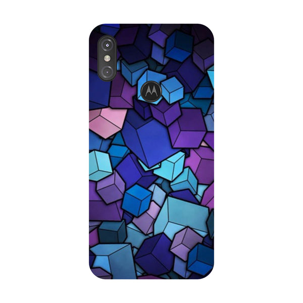 Cubes Motorola One Power Back Cover-Hamee India