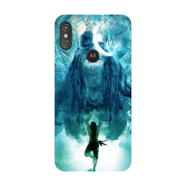 Standing Shiva Motorola One Power Back Cover-Hamee India