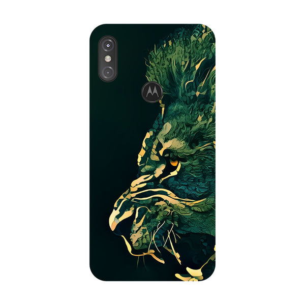 Dark Lion Motorola One Power Back Cover-Hamee India