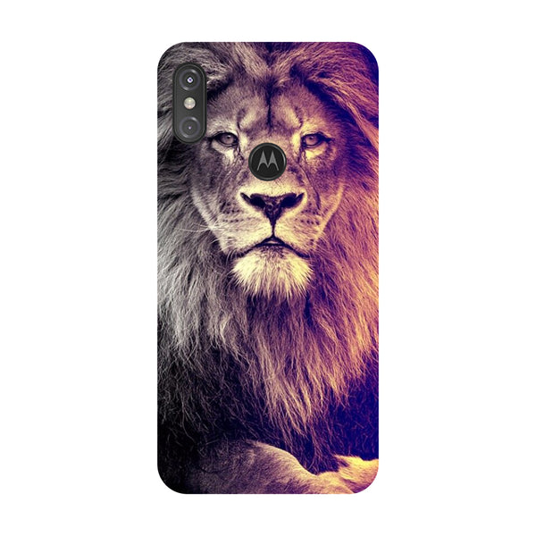 Lion Motorola One Power Back Cover-Hamee India