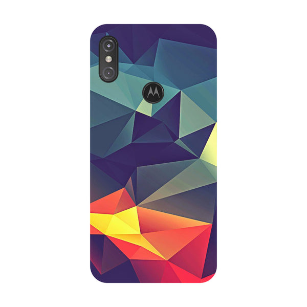 Abstract Motorola One Power Back Cover-Hamee India