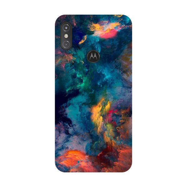 Abstract Fumes Motorola One Power Back Cover-Hamee India