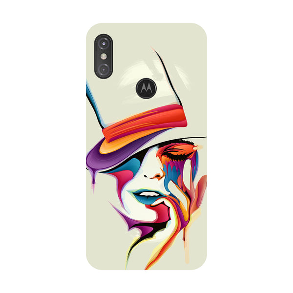 Hat Girl Motorola One Power Back Cover-Hamee India