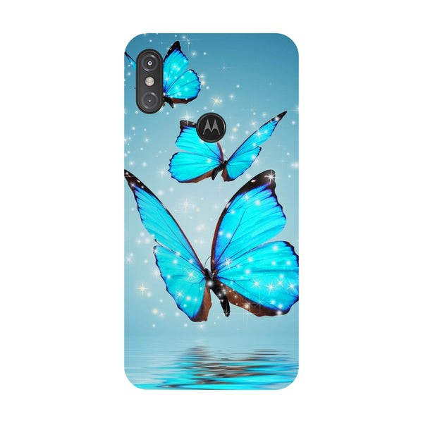 Butterflies Motorola One Power Back Cover-Hamee India