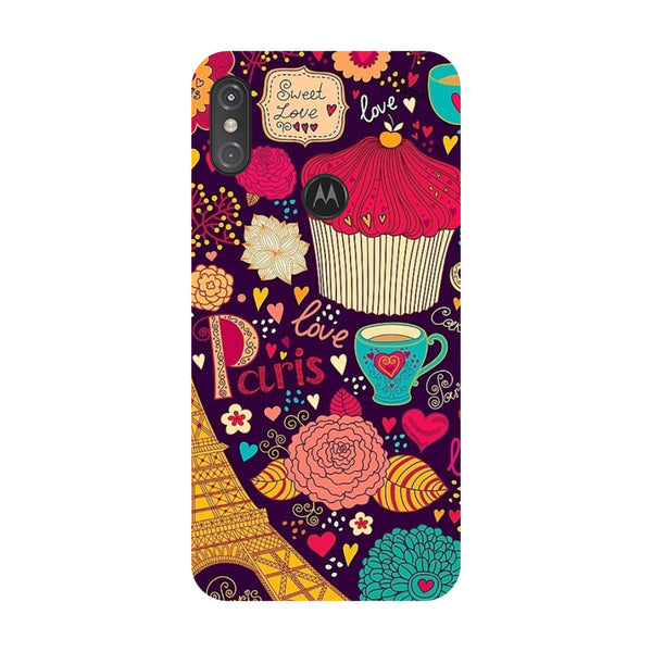 Paris Doodles Motorola One Power Back Cover-Hamee India