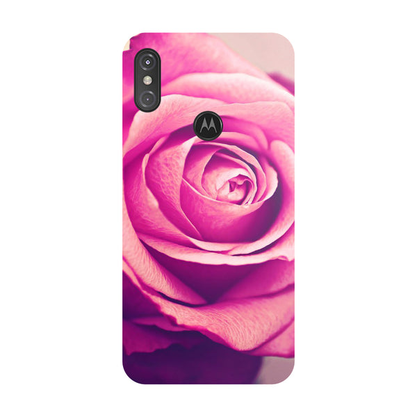 Pink Rose Motorola One Power Back Cover-Hamee India