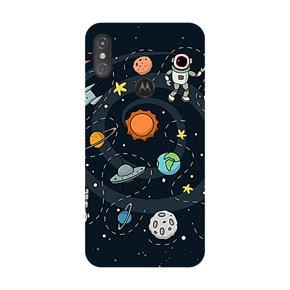 new style 11016 64922 Space Motorola One Power Back Cover