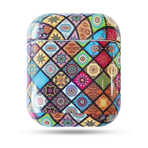 Hard Glossy Airpods Case - Ethnic Patchwork-Hamee India