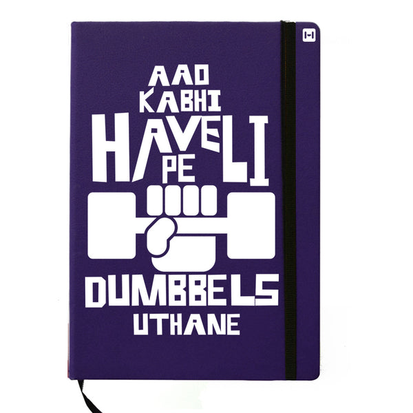 Obsessed with Dumbells - Blue Notebook-Hamee India