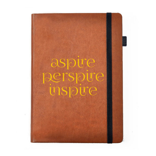 Aspire Perspire Inspire- Tan Brown Notebook-Hamee India