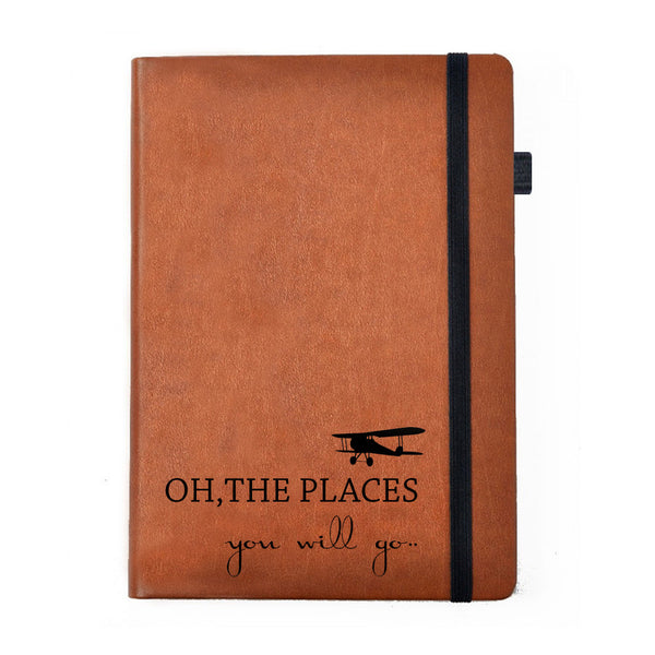 The places- Tan Brown Notebook-Hamee India