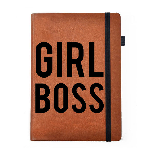 Girl Boss - Tan Brown Notebook-Hamee India