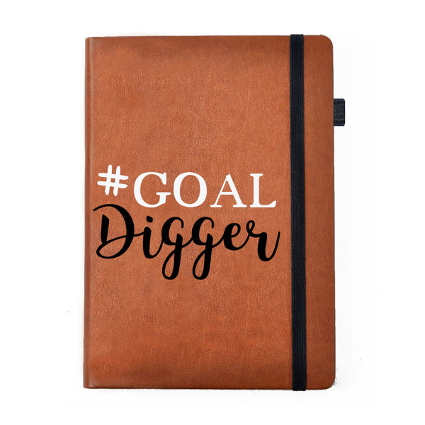 Goal Digger - Tan Brown Notebook-Hamee India