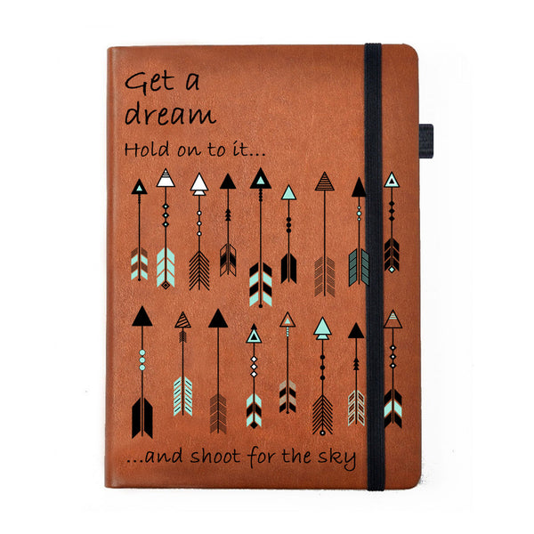 Shoot For The Sky - Tan Brown Notebook-Hamee India