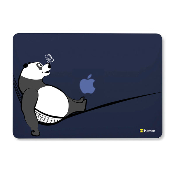 "Relax Panda - Navy Blue MacBook Air 13"" Cover-Hamee India"