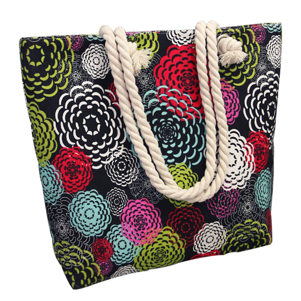 Canvas Shopping Tote Bag - Multi Floral-Hamee India