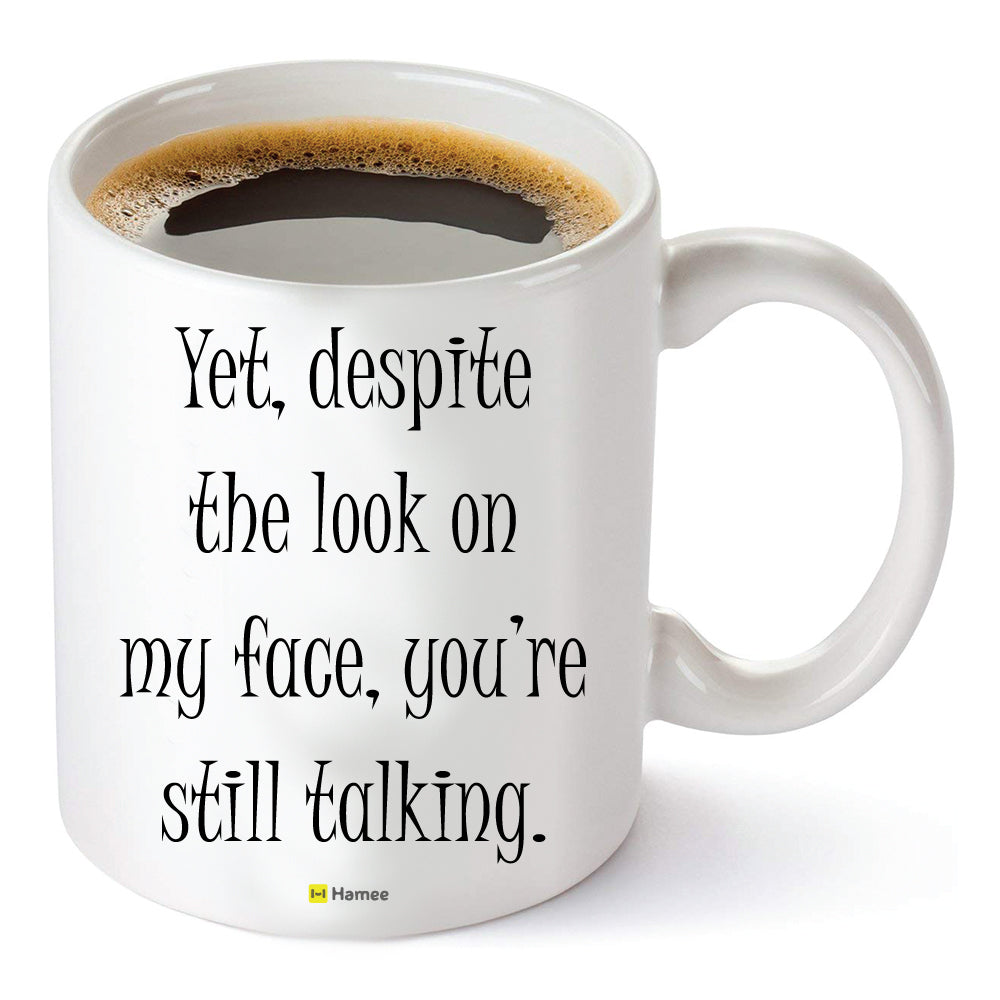 Talking - White Coffee Mug-Hamee India