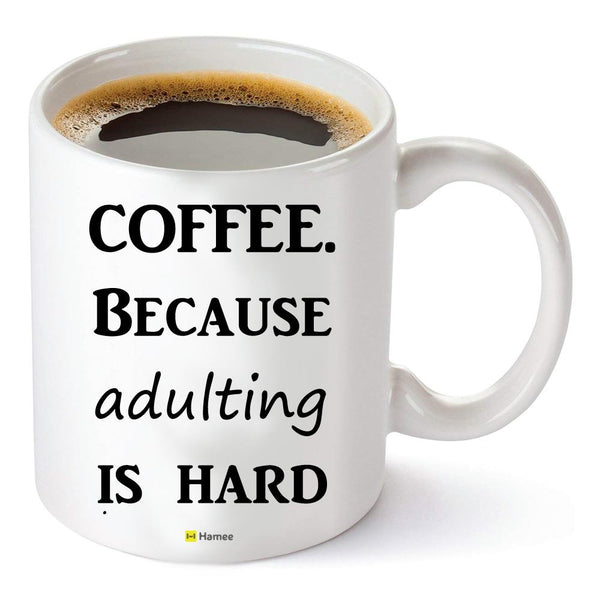 Adulting - White Coffee Mug-Hamee India