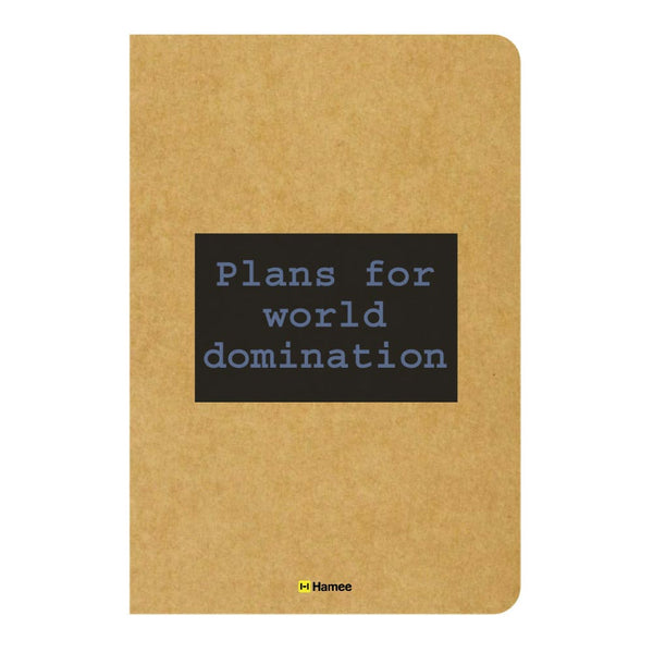 Plans Ruled Craft Notebook-Hamee India