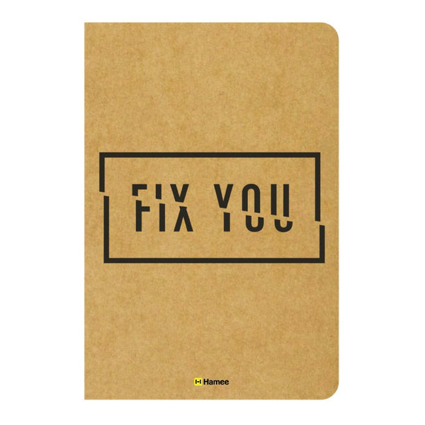 Fix You Ruled Craft Notebook-Hamee India