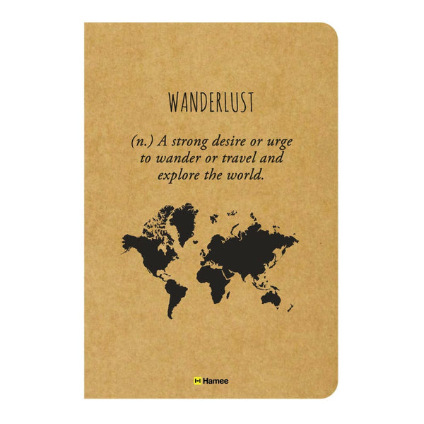 Wanderlust Ruled Craft Notebook-Hamee India